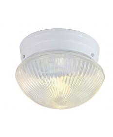 Nuvo Lighting 76/253 2 Light 10 inch Flush Mount Medium Clear Ribbed Mushroom
