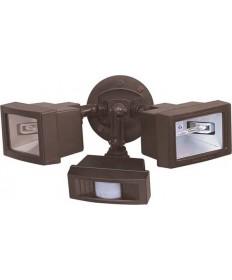 Nuvo Lighting 76/507 2 Light 15 inch Flood Light, Exterior Twin Mini Halogen w/Motion Sensor