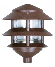 Nuvo 76/632 3-Tier Landscape Path Light Small Hood Old Bronze