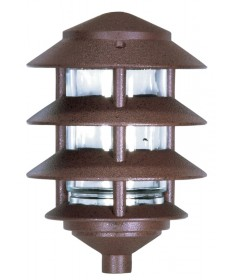Nuvo Lighting 76/633 Nuvo 76-633 Landscape Lighting 9-inch Pathway Light Three Louver