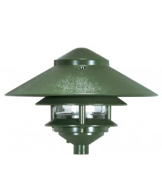 Nuvo Lighting 76/634 2-Tier PathLight Landscape Large Hood Green 1 Light 8 inch Pathway Light 2 Louver Light Fixture