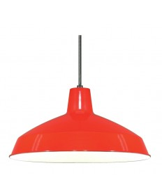 Nuvo Lighting 76/663 Nuvo 16'' inch Warehouse Shade Pendant Red 1-Light
