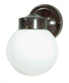 Nuvo Lighting 76/703 1 Light 6 inch Porch, Wall With White Globe