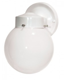 Nuvo Lighting 76/704 1 Light 6 inch Porch, Wall With White Globe