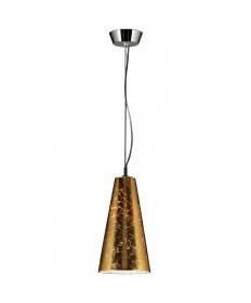 PLC Lighting 76011 GOLD 1 Light Mini Pendant Baolis Collection