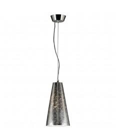 PLC Lighting 76011 SILVER 1 Light Mini Pendant Baolis Collection