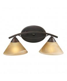 ELK Lighting 7641/2 Elysburg 2 Light Vanity in Aged Bronze and Tea Swirl Glass