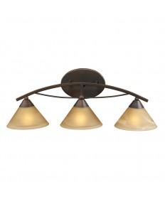 ELK Lighting 7642/3 Elysburg 3 Light Vanity in Aged Bronze and Tea Swirl Glass
