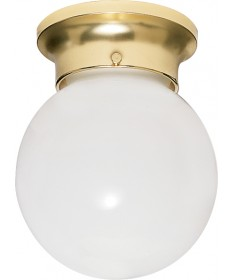 Nuvo Lighting 77/109 1 Light 8 inch Ceiling Fixture White Ball