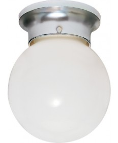 Nuvo Lighting 77/111 1 Light 8 inch Ceiling Fixture White Ball