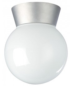 Nuvo Lighting 77/152 1 Light 8 inch Utility, Ceiling Mount With White Glass Globe