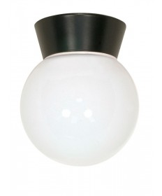 Nuvo Lighting 77/153 1 Light 8 inch Utility, Ceiling Mount With White Glass Globe