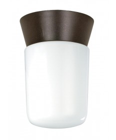 Nuvo Lighting 77/156 1 Light 8 inch Utility, Ceiling Mount With White Glass Cylinder