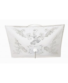 Nuvo Lighting 77/392 2 Light 12 inch Ceiling Fixture Square Floral / w/Pull Chain