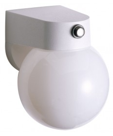 Nuvo Lighting 77/751 1 Light 8 inch Porch, Wall With Lexan Globe & Photoelectric Sensor