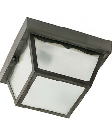Nuvo Lighting 77/863 1 Light 8 inch Carport Flush Mount With Frosted Acrylic Panels