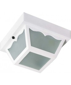 Nuvo Lighting 77/879 1 Light 10 inch Carport Flush Mount With Frosted Acrylic Panels