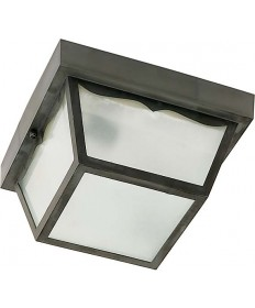 Nuvo Lighting 77/891 1 Light 10 inch Carport Flush Mount With Frosted Acrylic Panels