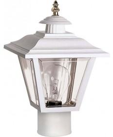 Nuvo Lighting 77/899 1 Light 13 inch Post Lantern Coach Lantern w/Brass Trimmed Acrylic Panels