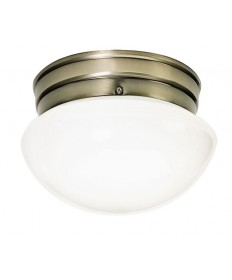 Nuvo Lighting 77/921 1 Light 8 inch Flush Mount Small White Mushroom