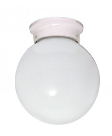 Nuvo Lighting 77/947 1 Light 6 inch Ceiling Fixture White Ball