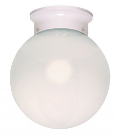Nuvo Lighting 77/948 1 Light 8 inch Ceiling Fixture White Ball