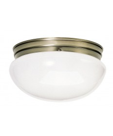 Nuvo Lighting 77/988 2 Light 12 inch Flush Mount Large White Mushroom
