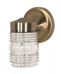 Nuvo Lighting 77/995 1 Light 6 inch Porch, Wall Mason Jar w/Clear Glass