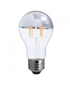 Bulbrite 776671 | 5 Watt LED Half Chrome Filament A19 Bulb, Medium
