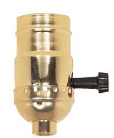 Satco 80/1002 Satco Aluminum 3 Way (2 Circuit) Turn Knob Socket