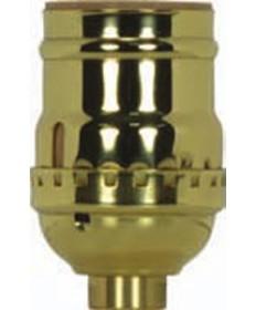 Satco 80/1039 Satco 3 Piece Stamped Solid Brass Short Keyless Socket
