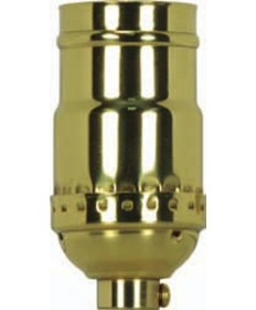 Satco 80/1175 Satco 3 Piece Stamped Solid Brass 3 Way (2 Circuit), Keyless Socket