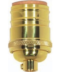 Satco 80/1434 Satco 3 Piece Stamped Solid Brass Short Keyless Socket