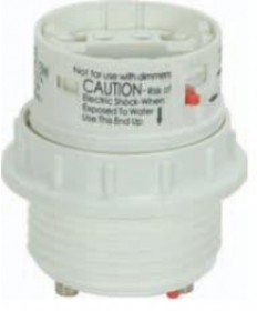 Satco 80/1713 Satco 18 Watt Electronic Self-Ballasted CFL Socket Lampholder