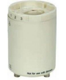 "Satco 80/1853 Satco 18 Watt G24q-2 and GX24q-2 277VAC, 60Hz, 0.20A, Height: 2"", GU24 Four Pin CFL Electronic Self-Ballasted CFL Lampholder Less Cap"