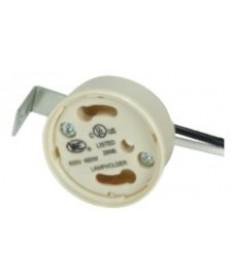 "Satco 80/1861 Satco L-Bracket, Height: 3/4"", 24 inch 18AWM 105 Degree Leads Electronic Socket Cap CFL GU24 4-Pin"