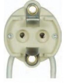 Satco 80/1872 Satco G12 HID Socket 5KV 8 inch SF-2 Leads 600 Watt-1000 Volt Porcelain Halogen