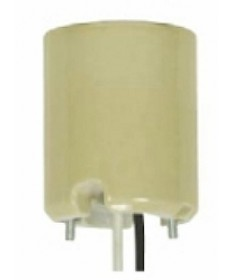 Satco 80/2090 Satco Yellow Glazed 1500W-600V Keyless Porcelain Mogul Socket