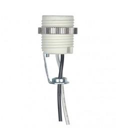 Satco 80/2543 Candelabra Porcelain Socket Threaded chrome metal