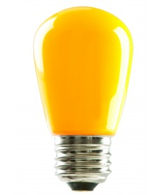 Halco 80520 S14YEL1C/LED LED S14 1.4W Yellow Dimmable