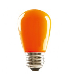 Halco 80523 S14ORG1C/LED LED S14 1.4W Orange Dimmable E26 ProLED