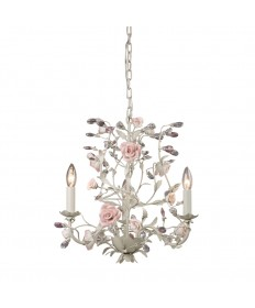 ELK Lighting 8091/3 Heritage 3 Light Chandelier in Cream
