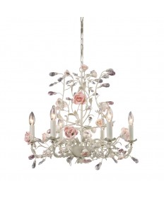 ELK Lighting 8092/6 Heritage 6 Light Chandelier in Cream