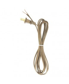 Satco 90/2392 Satco Lamp Cord Set Metallic Gold 8 Feet