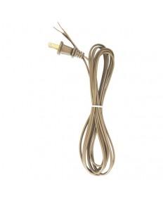 Satco 90/2392 Satco Lamp Cord Set Metallic Gold 8 Feet