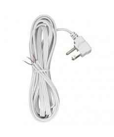 Satco 90/2459 White 10 feet Cord Set Flat Plug Cord Set 18/3 SPT-2