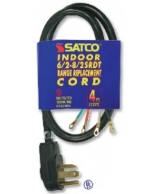 Satco 90/5032 Satco 3 Foot 3 Wire 6-2 8-1 SRDT Gray Flat Heavy Duty Replacement Range Cord
