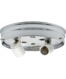 Satco 90/757 Satco 90-757 8 inch Chrome Finish Two Light Ceiling Pan