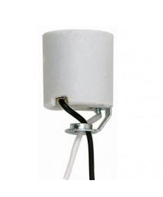 "Satco 90/759 Keyless Porcelain Socket 1/8 Hickey 24"" inch Leads"