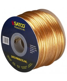 Satco 93/129 Satco 93-129 18/2 SPT-2 105C 250FT Clear Gold Spool Wire